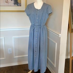 Mix it Denim Stripe Dress Size 14